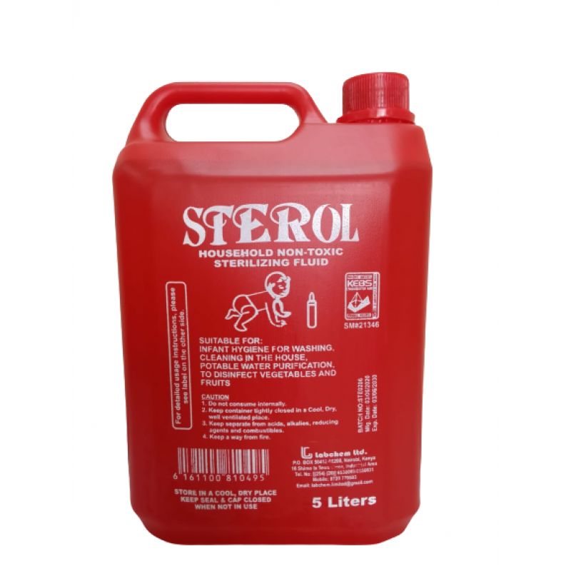 STEROL STERILIZING FLUID 5 LITRES