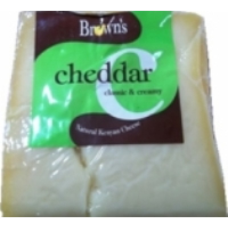 BROWN'S CHEDDAR CHEESE 225G