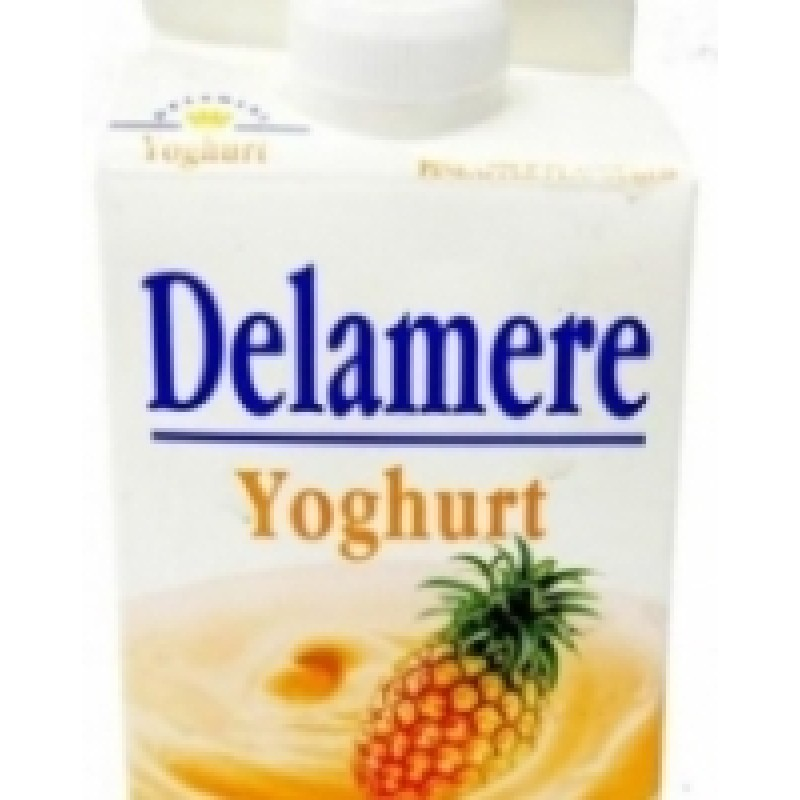 DELAMERE YOGHURT PINEAPPLE 500ML