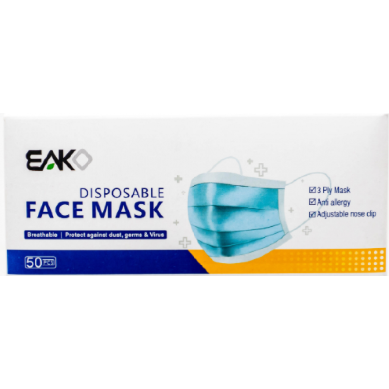 EAKO DISPOSABLE FACE MASK (50PCS)