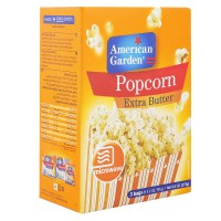 AMERICAN GARDEN MICROWAVE EXTRA BUTTER POPCORN 273G