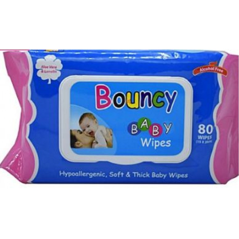 BOUNCY BABY WIPES 80S