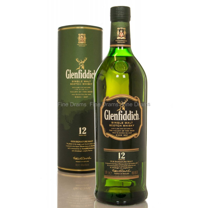 GLENFIDDICH  12YR BOTTLE 1L
