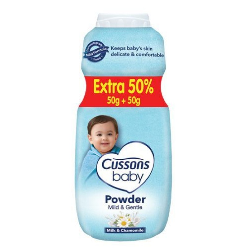 CUSSONS BABY MILD AND GENTLE POWDER 50G