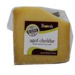 BROWNS AGED CHEDDAR CHEESE  225G