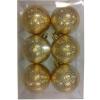 CHRISTMAS 6PCS 6CM BALL SHINY/MATT GOLD