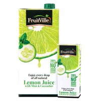 FRUITVILLE LEMON JUICE WITH MINT AND CUCUMBER 1 LITRE