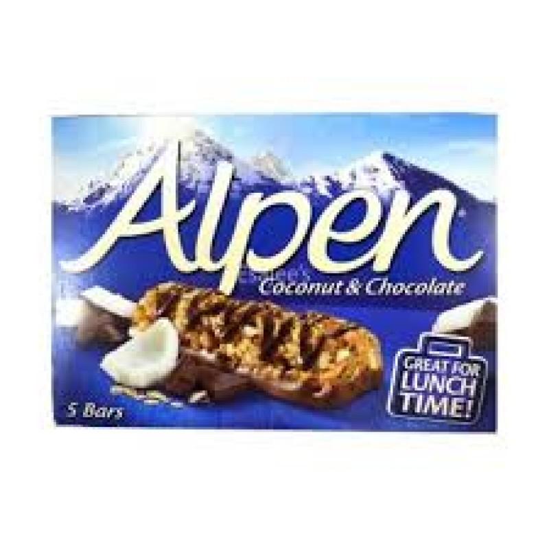 ALPEN COCONUT & CHOCOLATE BARS 145G