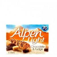 ALPEN LIGHT CHOCOLATE & FUDGE BAR 95G
