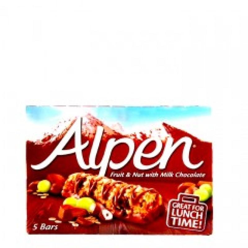 ALPEN BARS FRUIT N NUT WITH CHOCOLATE 145G