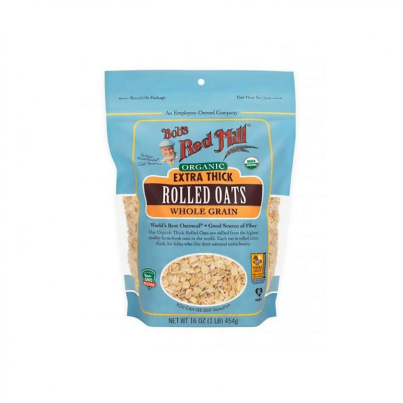 BOBS RED MILL EXTRA THICK ROLLED OATS WHOLE GRAIN 454GM