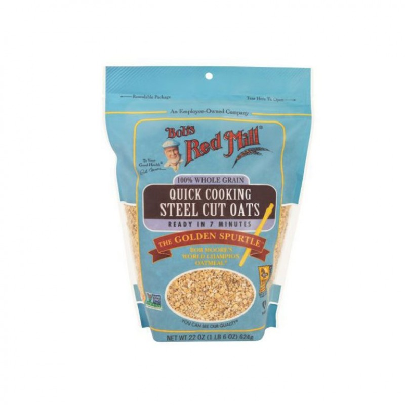 BOBS READ MILL QUICK COOKING STEEL CUT OATS 624GM