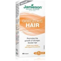 Jamieson Gorgeous Hair - 10,000 mcg Biotin with Organic Coconut Oil 60s