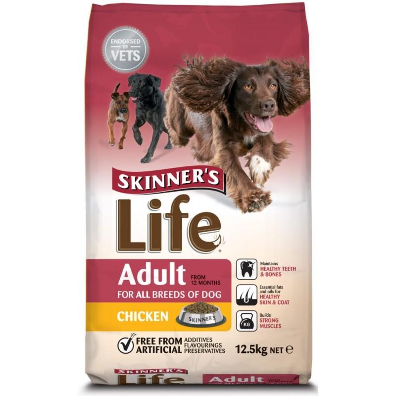 SKINNERS LIFE ADULT DOG FOOD CHICKEN FLAVOR 12.5KG