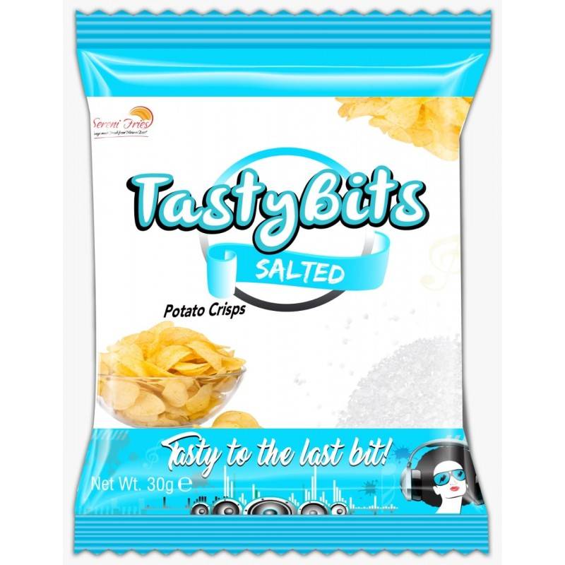 TASTY BITS SALTED POTATO CRISPS 30G