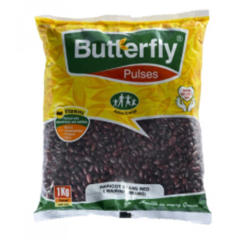 BUTTERFLY HARICOT BEANS RED(WAIRIMU BEANS) 1KG