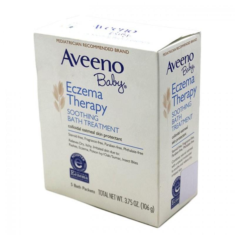 AVEENO BABY ECZEMA BATH TREATMENT 106G